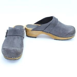 Sanita Open Clogs Dark Grey/Blue Size 39 8.5/9